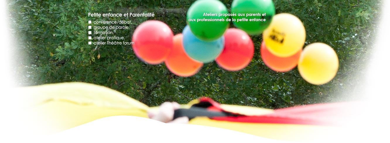 Petite enfance et parentalité : ateliers proposés aux parents et aux professionnels de la petite enfance